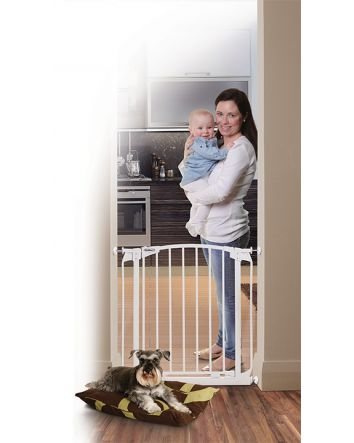 ZOE AUTO CLOSE PET SECURITY GATE- WHITE