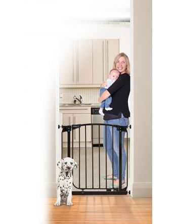 ZOE AUTO CLOSE PET SECURITY GATE- BLACK