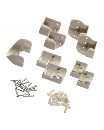 Replacement Mounting Hardware for Retractable Gate - White